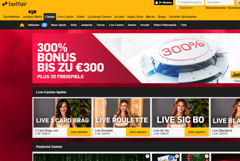 Casino Erfahrungen betfair – 36657