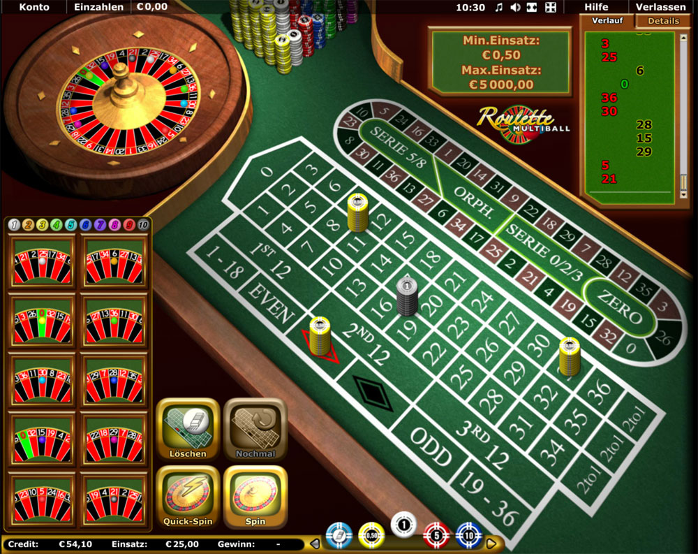 Roulette ohne Tischlimit – 30906