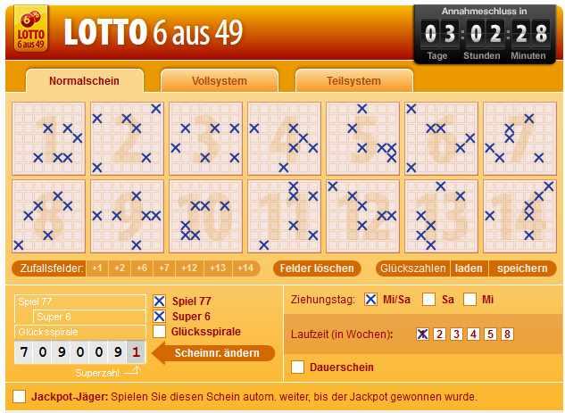 Lotto spielen registrieren – 76830