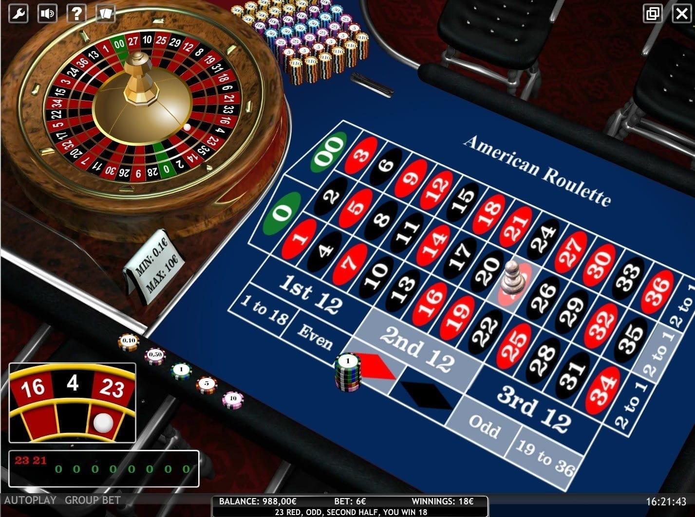 Roulette Auszahlungsquoten – 13939
