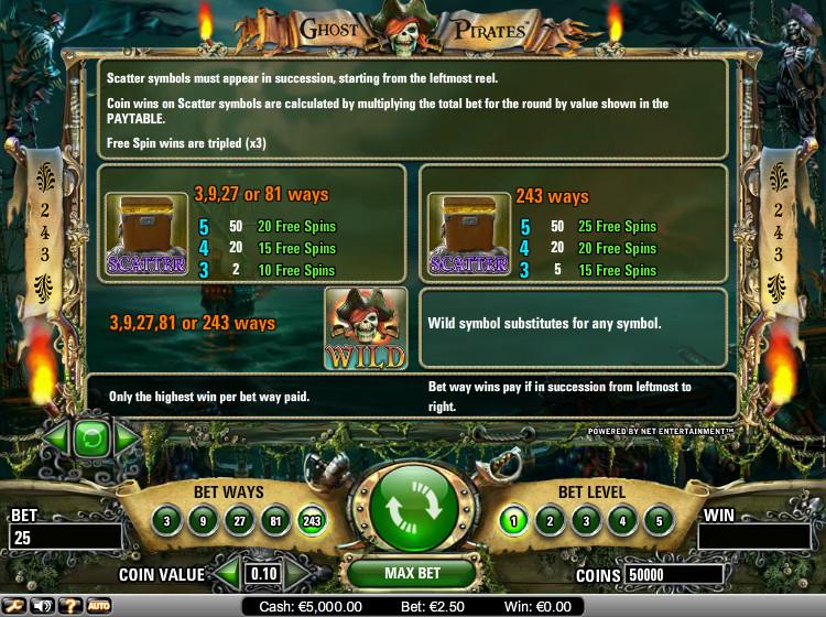 Ghost Pirates Bonus – 96795